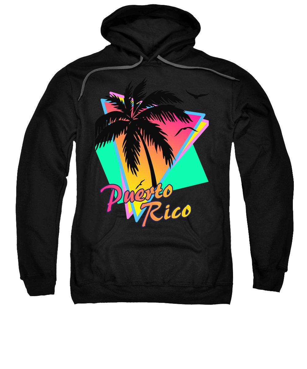 Classic Sweatshirt featuring the digital art Puerto Rico by Filip Schpindel