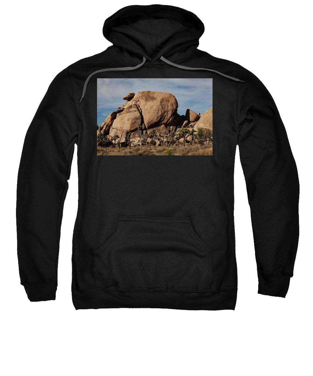 Joshua Tree Sweatshirt featuring the photograph Cap Rock by John Heywood