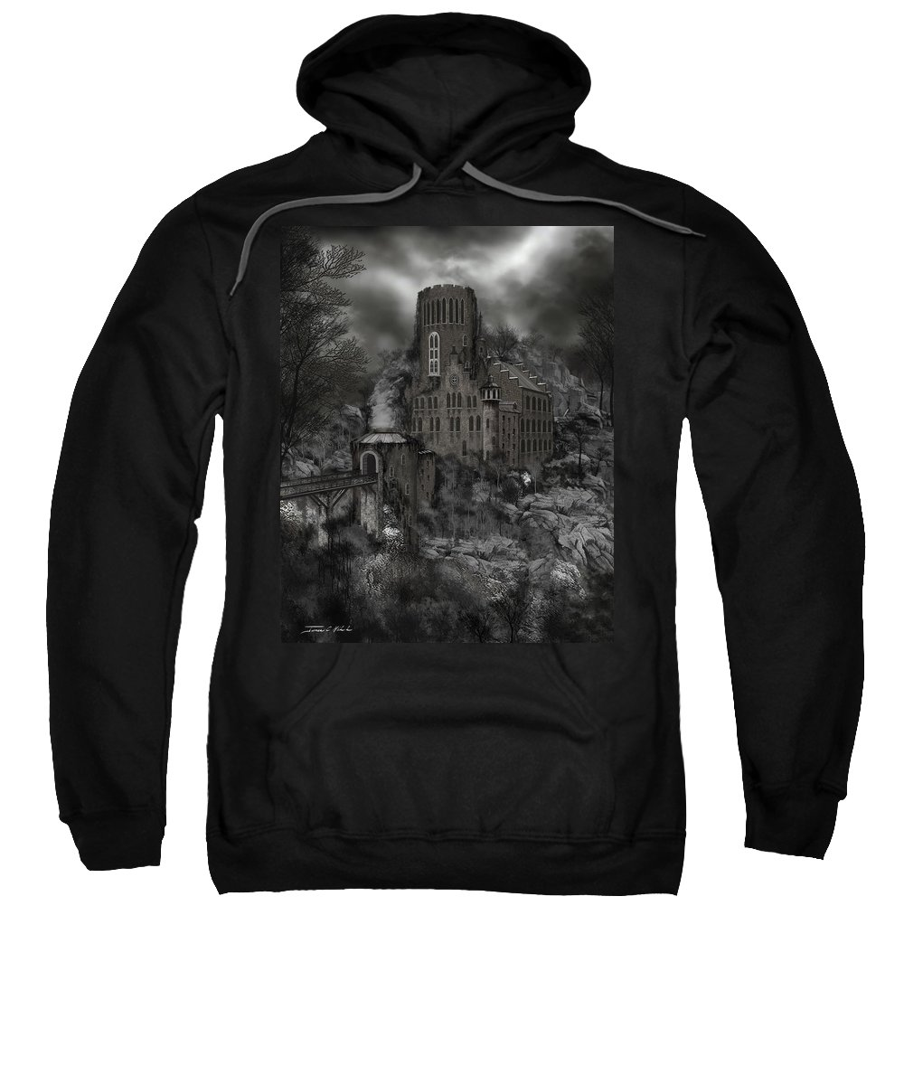 Castle Sweatshirt featuring the painting Casa Los Diavla by James Christopher Hill