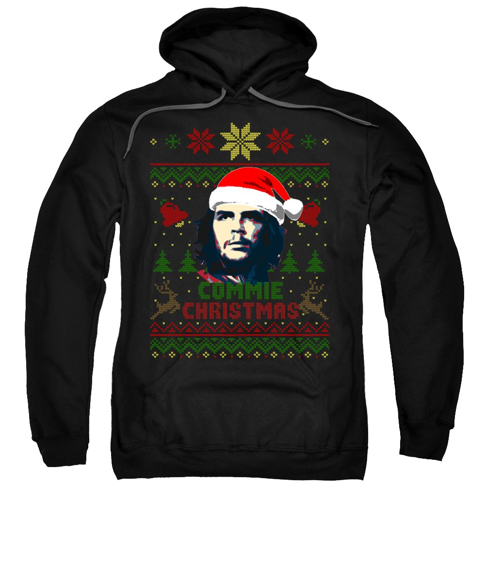 Santa Sweatshirt featuring the digital art Che Guevara Commie Christmas by Filip Schpindel