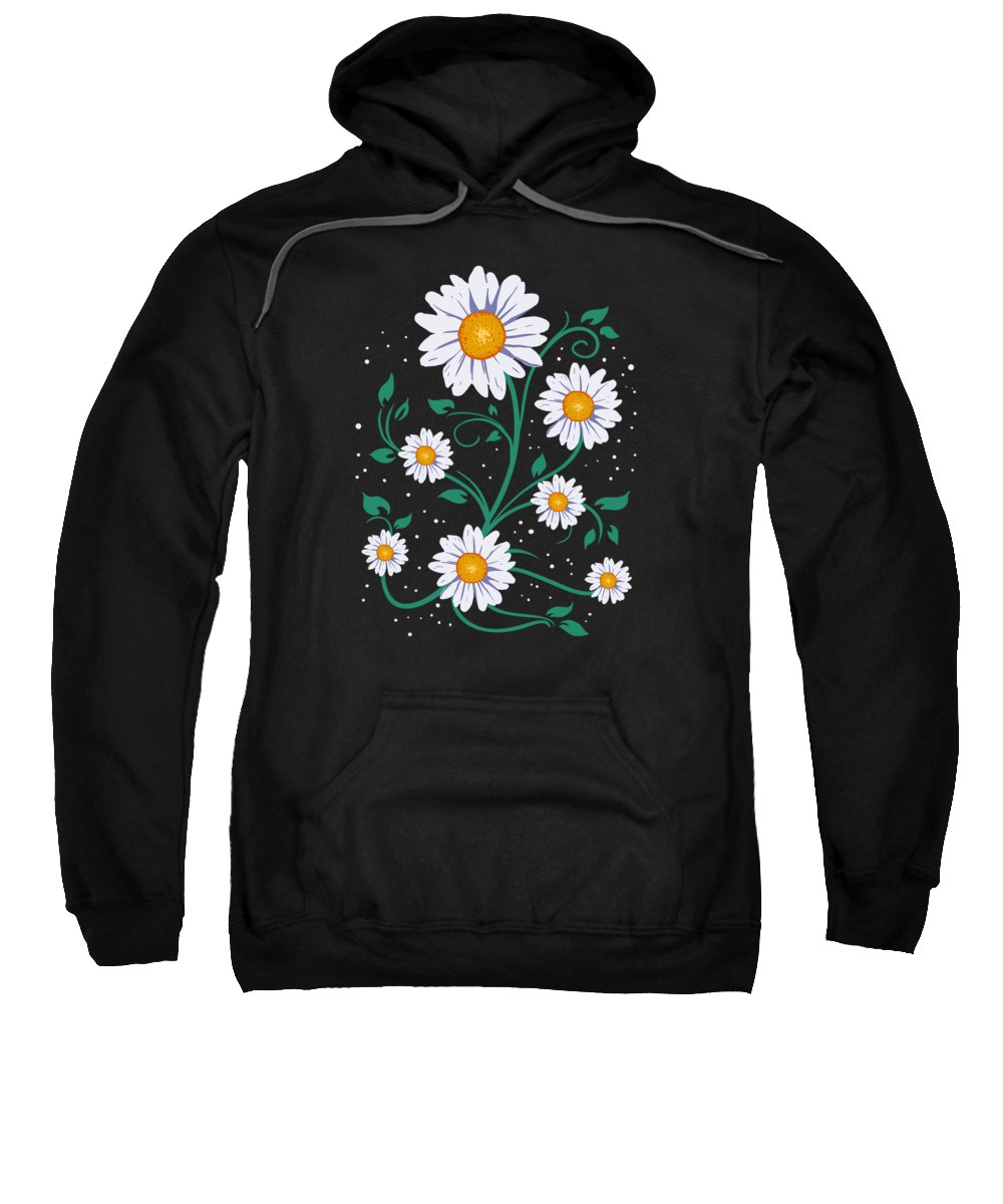 Flowers Sweatshirt featuring the digital art Cute Daisy Summer Daisies Spring Time Flowers by J M