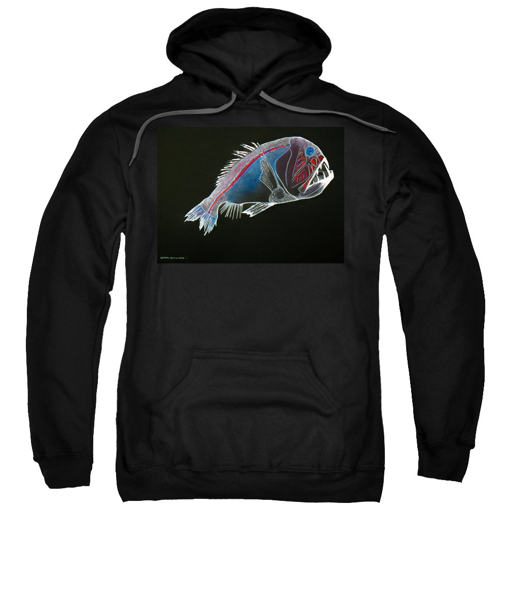 Fossil Sweatshirt featuring the drawing From The Abyss by Sergey Bezhinets