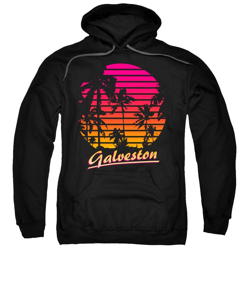 Texas Sweatshirt featuring the digital art Galveston by Filip Schpindel