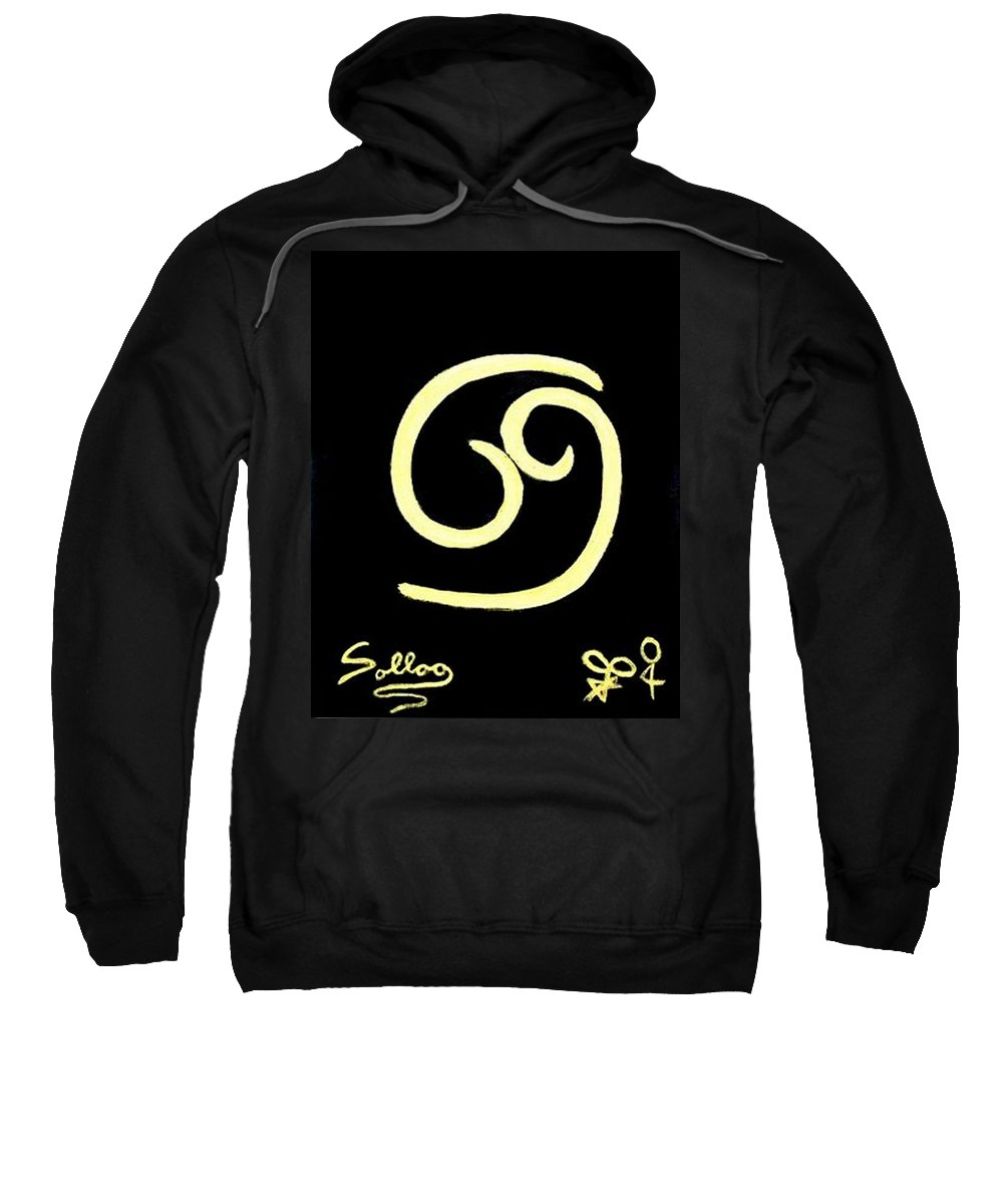 Zodiac Sweatshirt featuring the painting Gold Cancer Zodiac By Famous Artist by Sollog Artist