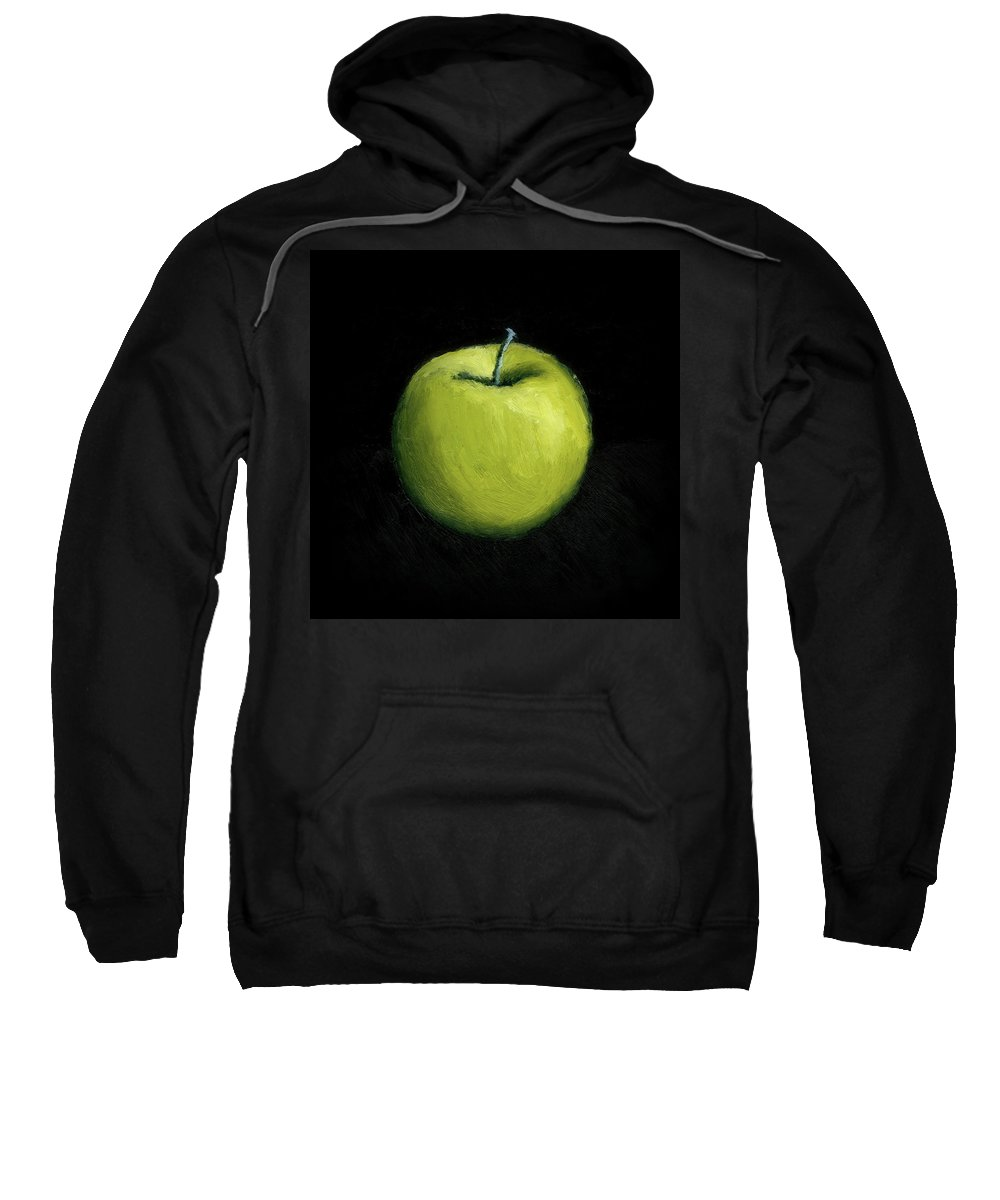 Apple Sweatshirt featuring the painting Green Apple Still Life by Michelle Calkins