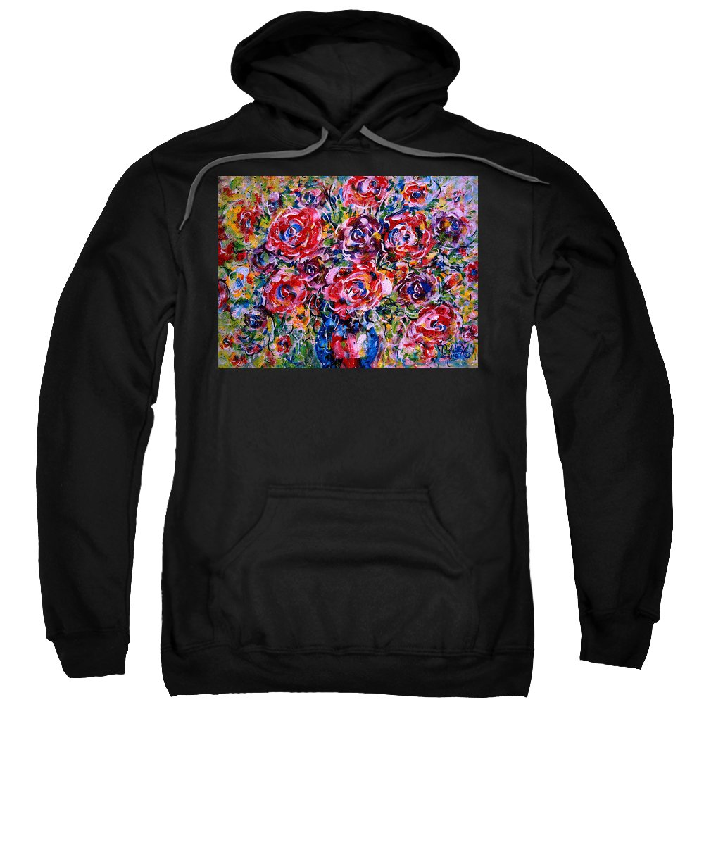 Flowers Sweatshirt featuring the painting Happy Expressions by Natalie Holland