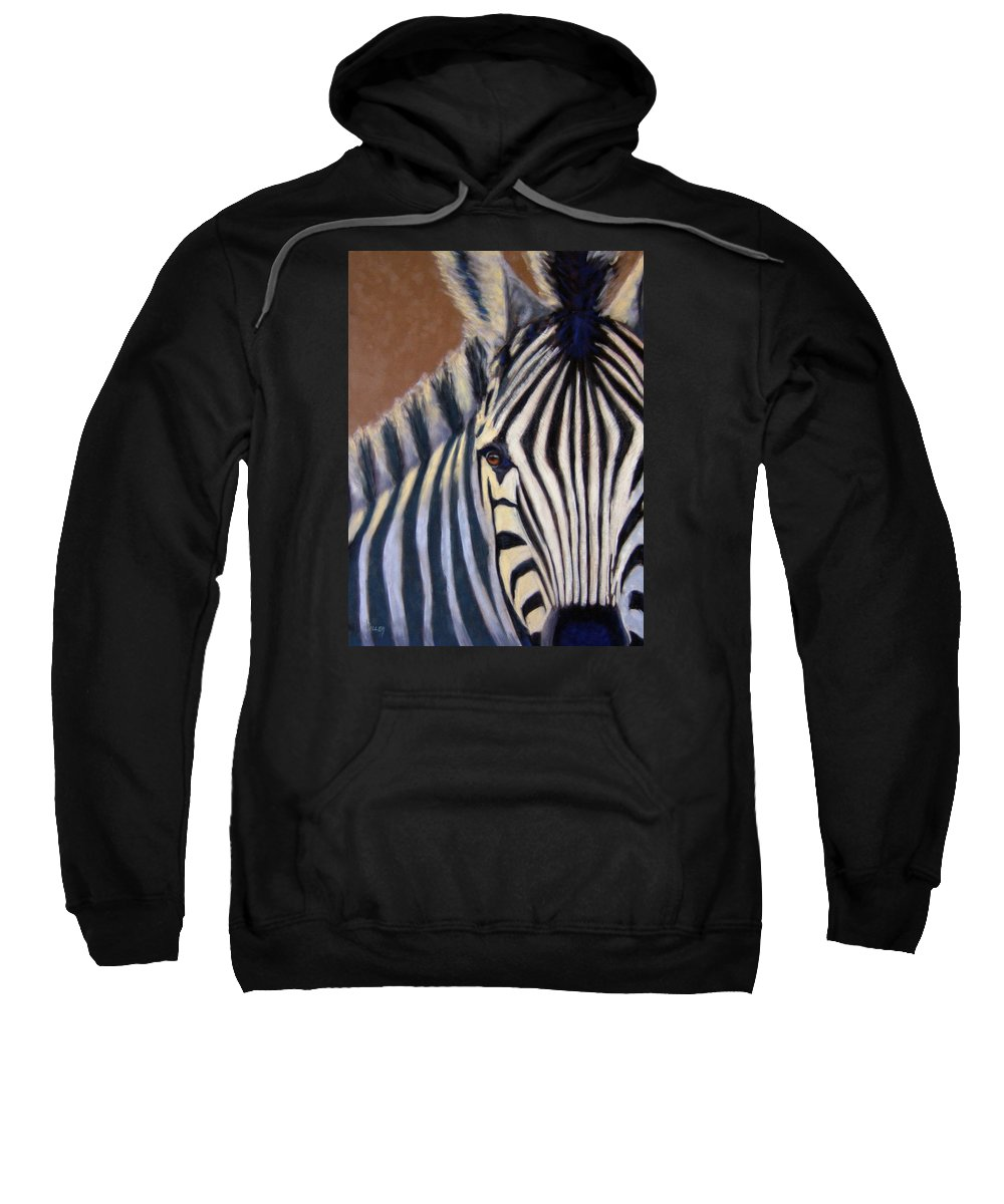Wildlife Sweatshirt featuring the painting Here I Am by Linda Hiller