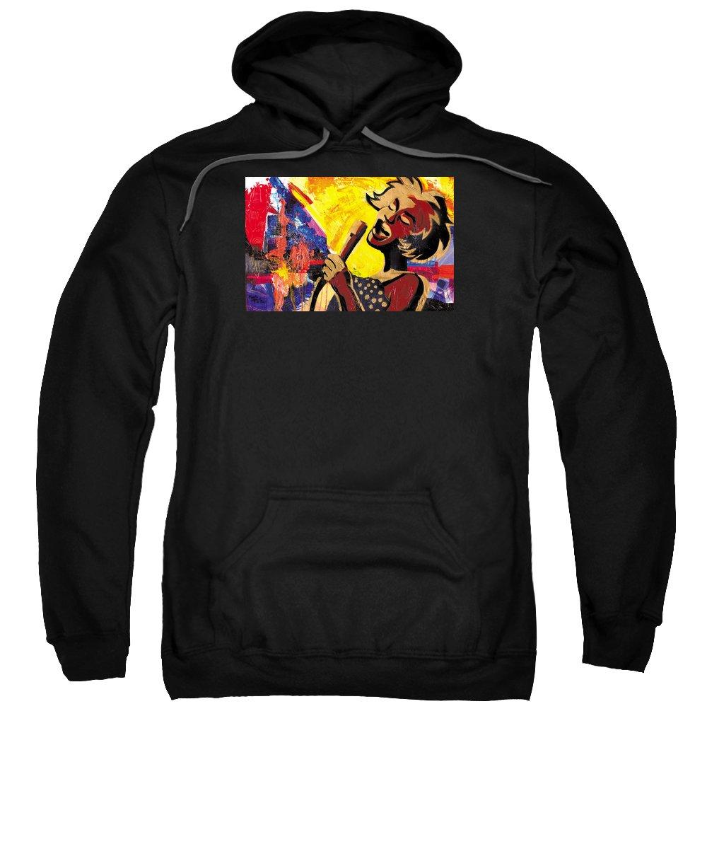 Everett Spruill Sweatshirt featuring the painting I Sings Da Blues by Everett Spruill