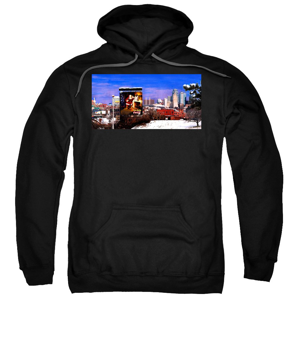 City Sweatshirt featuring the photograph Kansas City Skyline at Christmas by Steve Karol