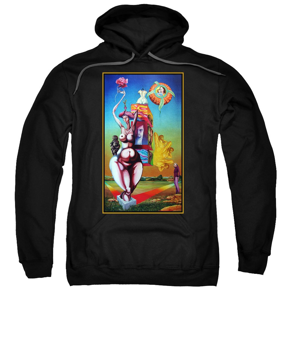 Surrealism Sweatshirt featuring the painting Magna Mater by Otto Rapp