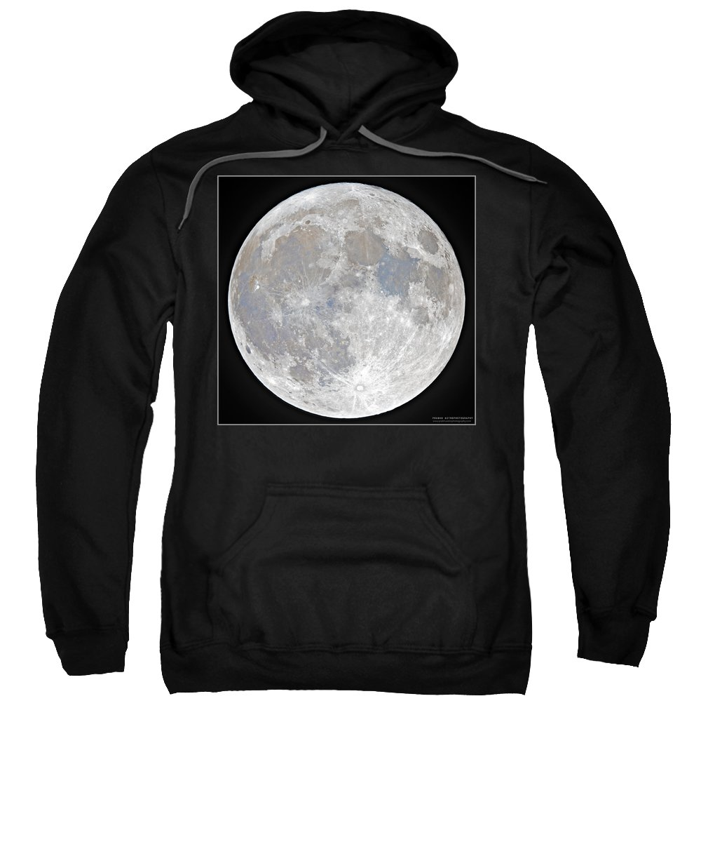 Fullmoon Sweatshirt featuring the photograph October 2020 Halloween Full/Blue Moon by Prabhu Astrophotography