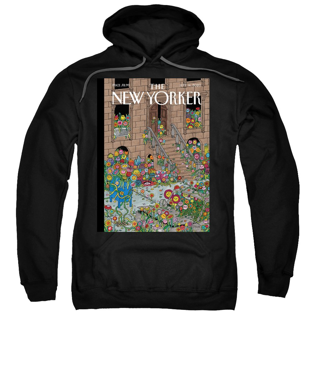 New York Sweatshirt featuring the painting Overgrown by Edward Steed