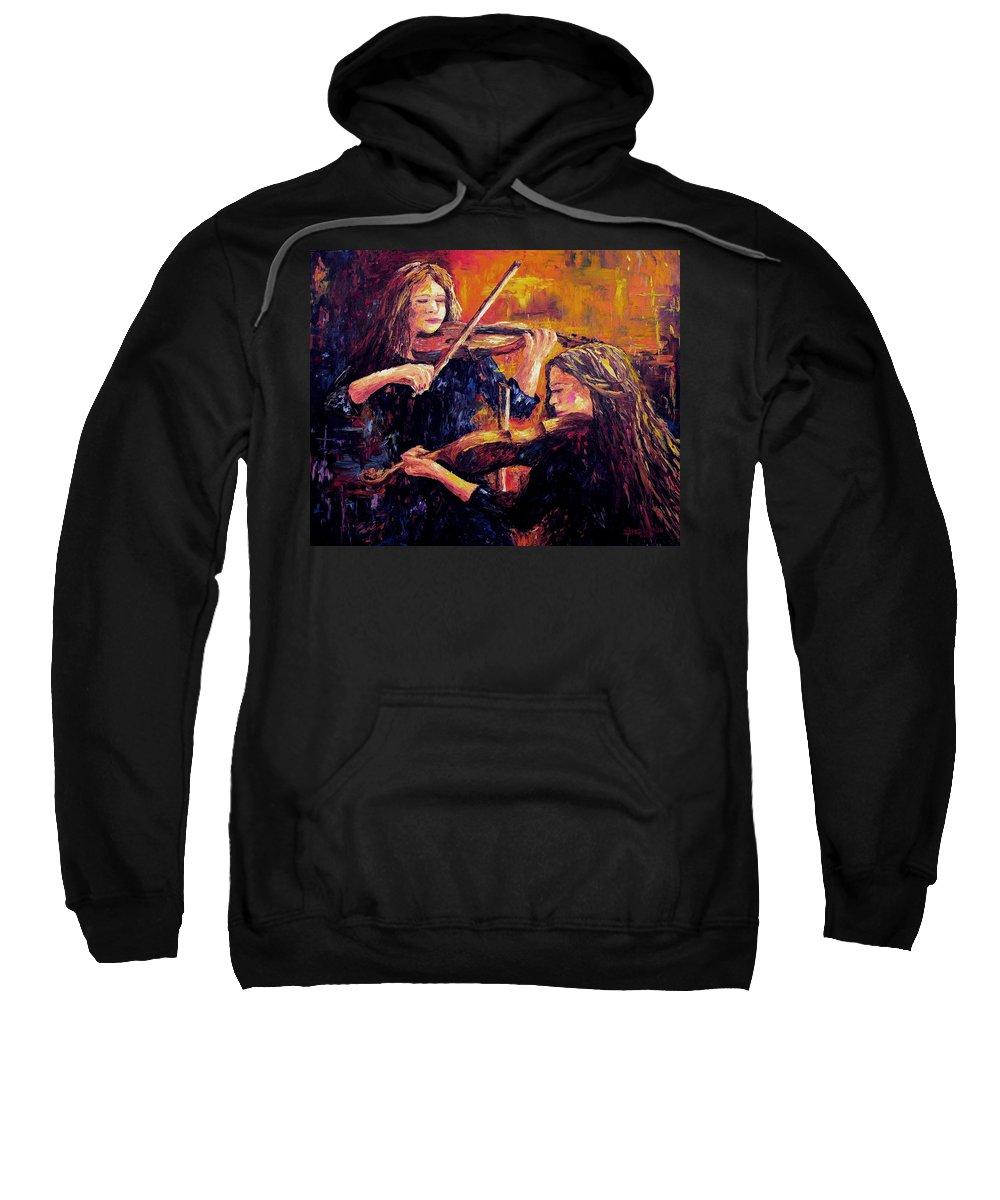 Recital Sweatshirt featuring the painting Recital by David G Paul