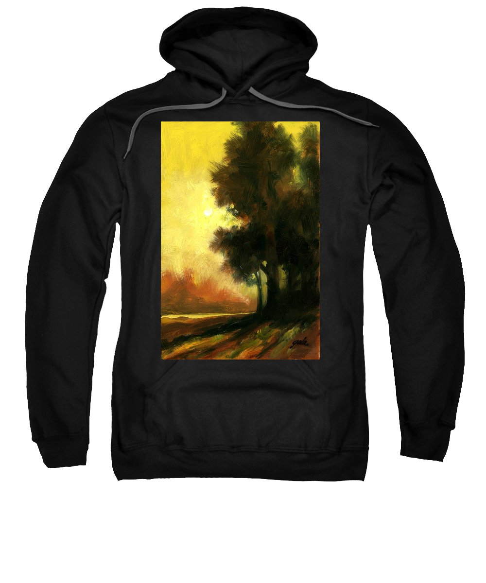 Landscape Sweatshirt featuring the painting Sailors Delight by Jim Gola