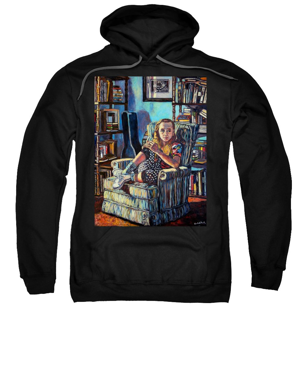 Figure Sweatshirt featuring the painting Samantha by Kendall Kessler