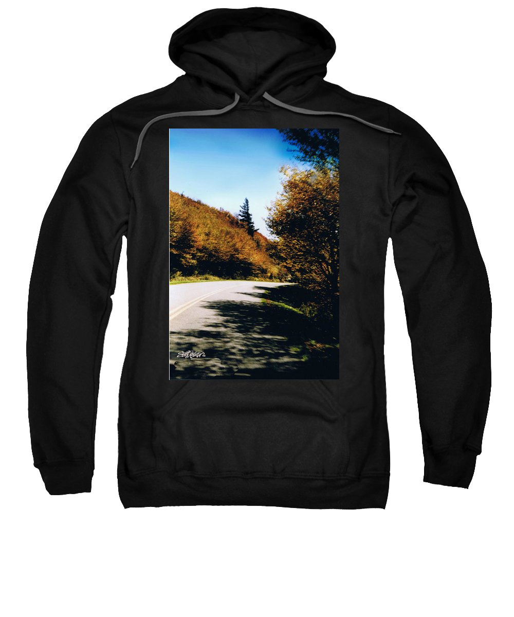 High In The Great Smoky Mtn. As You Round A Curve Stands This Noble Spruce. Sweatshirt featuring the photograph Single Spruce by Seth Weaver