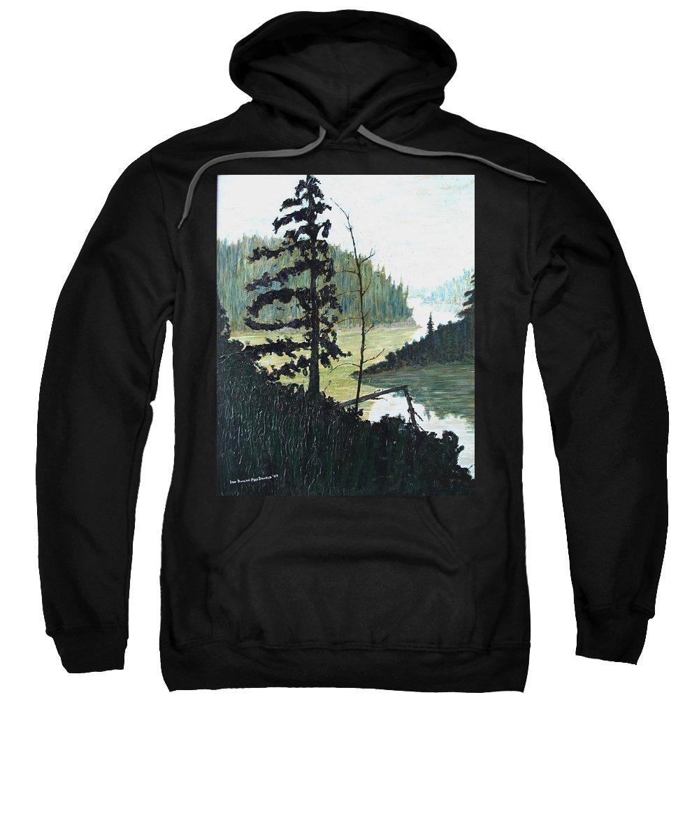 Sudbury Sweatshirt featuring the painting South of Sudbury by Ian MacDonald