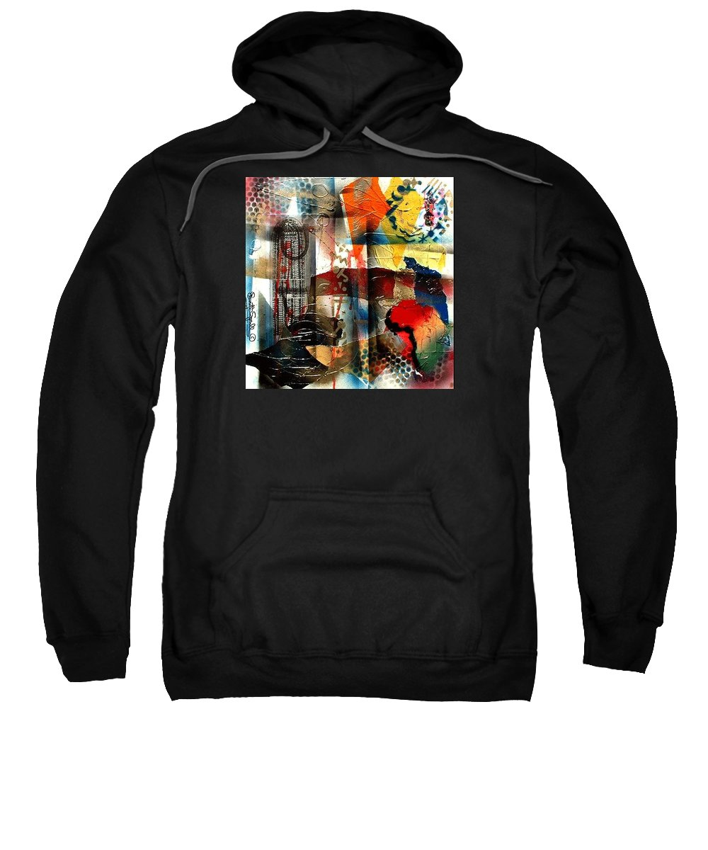 Everett Spruill Sweatshirt featuring the painting Stolen into Slavrey by Everett Spruill