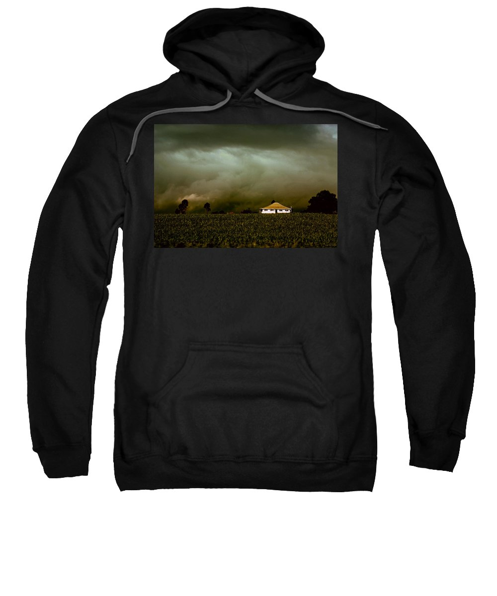 Landscape Sweatshirt featuring the photograph Storm on the Rise by Holly Kempe