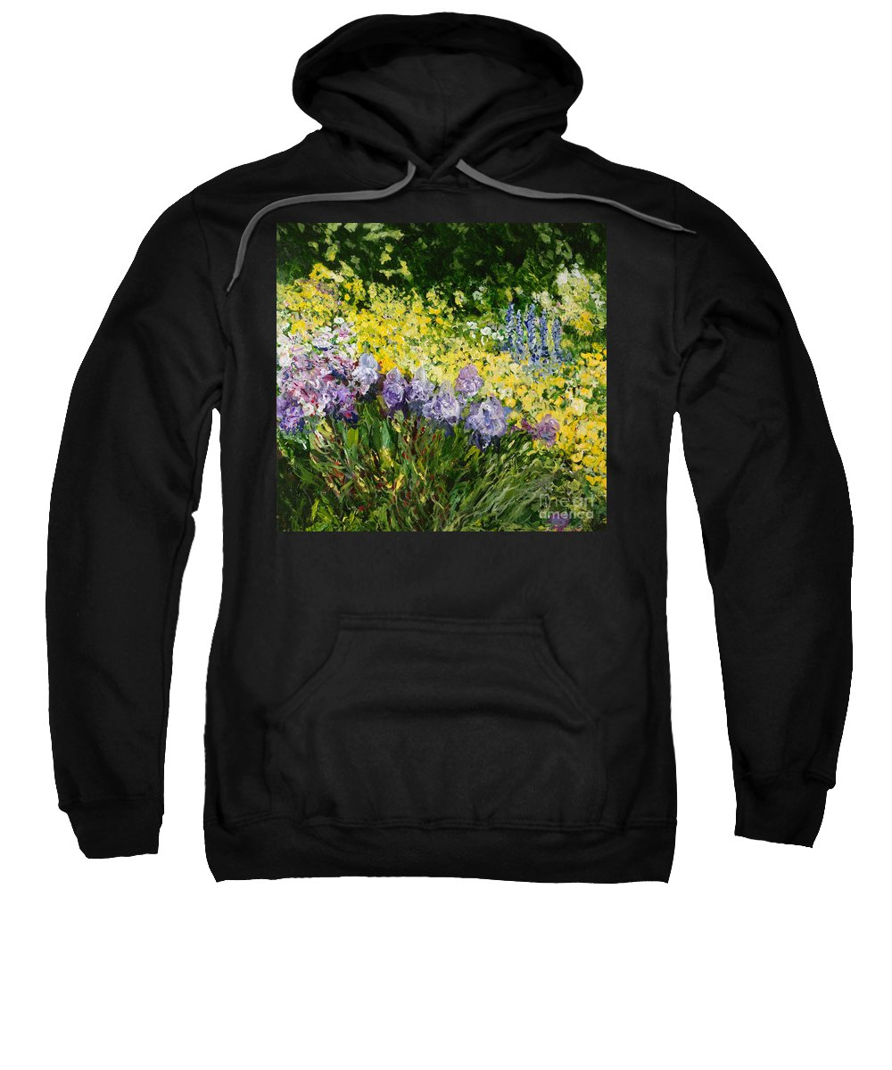 Landscape Sweatshirt featuring the painting Sunshine Blossoms by Allan P Friedlander
