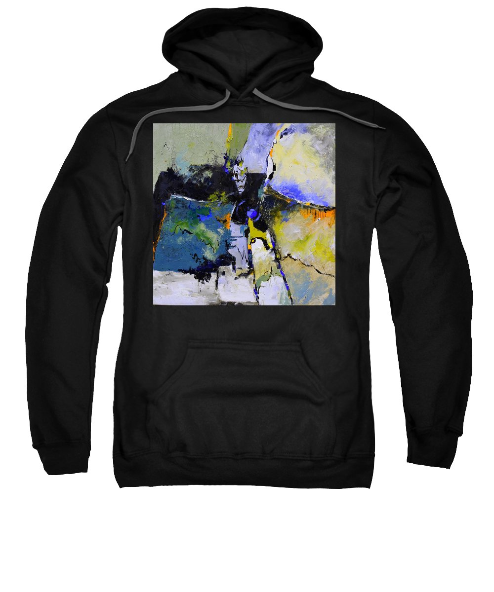 Abstract Sweatshirt featuring the painting The process of a judgement by Pol Ledent