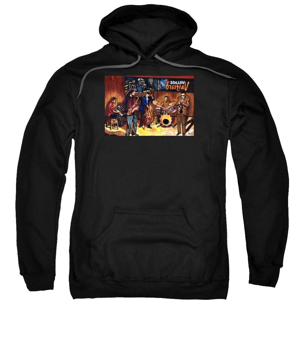 Everett Spruill Sweatshirt featuring the painting Village Vanguard by Everett Spruill