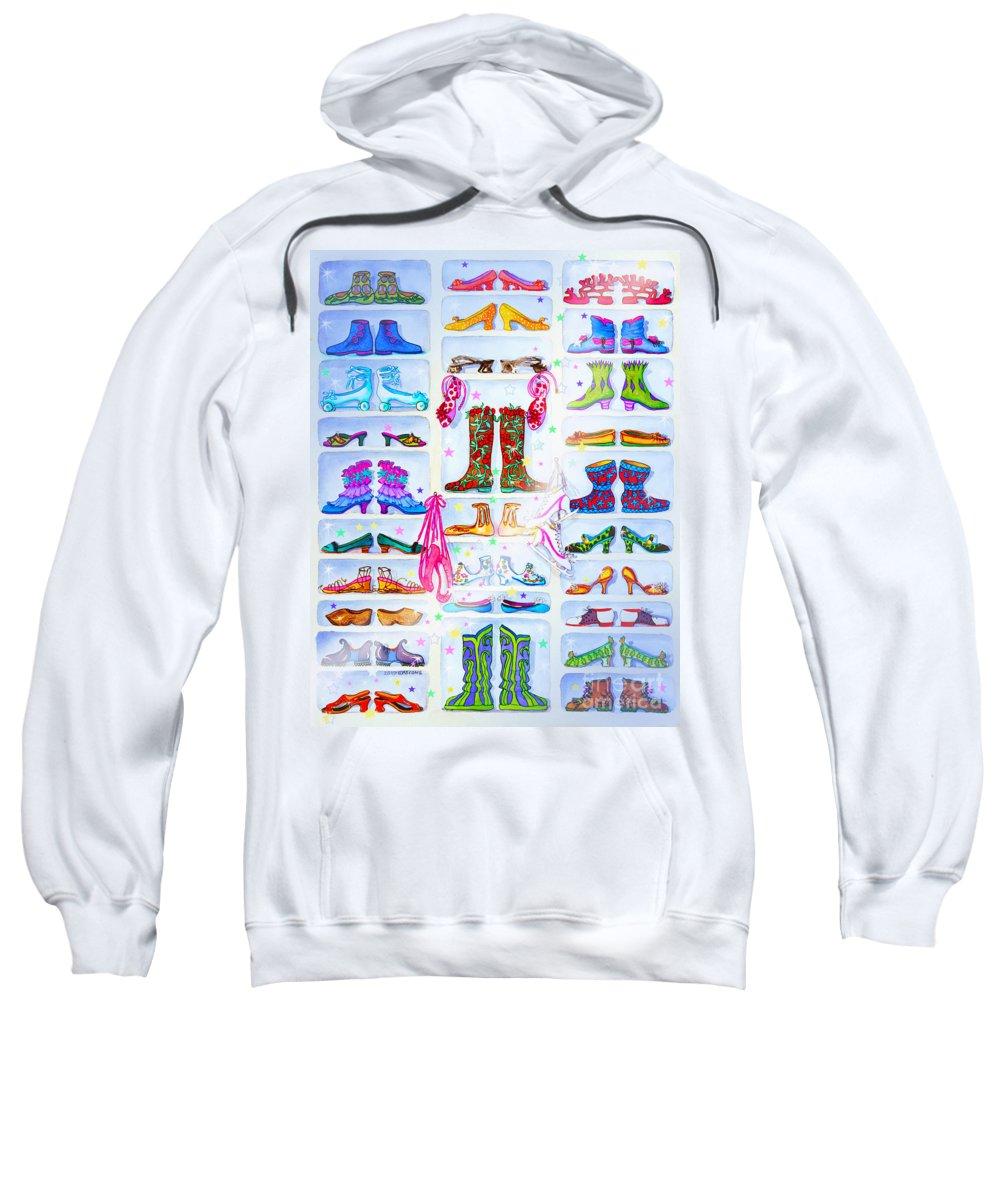 Alaska Berry Fairy Shoon Sweatshirt featuring the painting Alaska Berry Fairy Shoon by Teresa Ascone