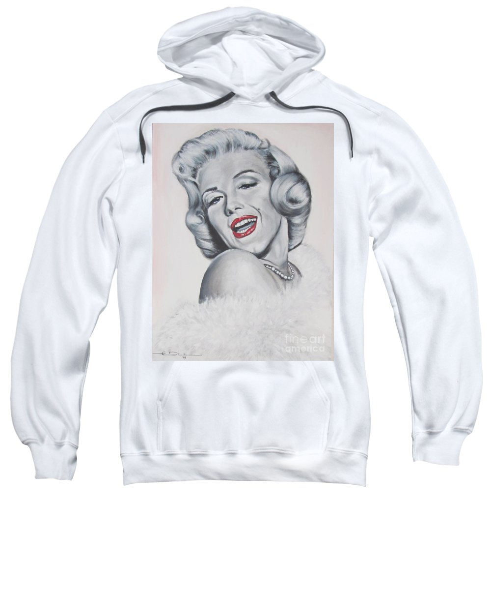 Marilyn Monroe Sweatshirt featuring the painting Marilyn Monroe by Eric Dee