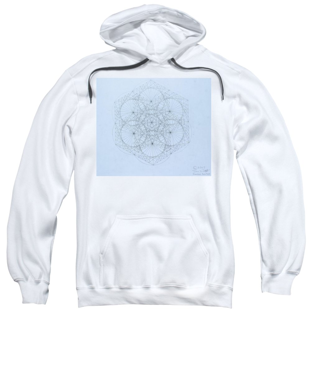 Jason Padgett Sweatshirt featuring the drawing Quantum Snowflake by Jason Padgett