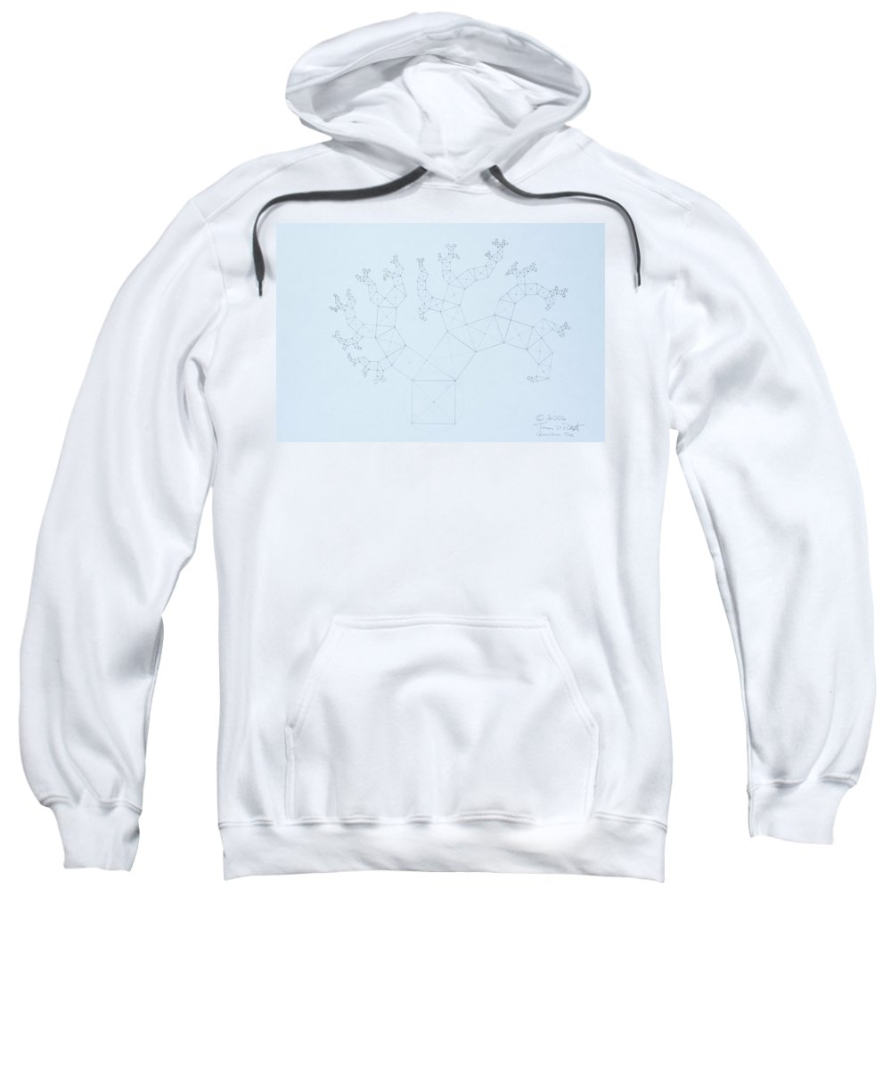 Fractal Tree Sweatshirt featuring the drawing Quantum Tree by Jason Padgett