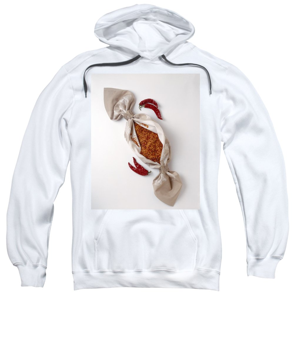 Raw Sweatshirt featuring the photograph Chilli Peppers by Stefania Levi