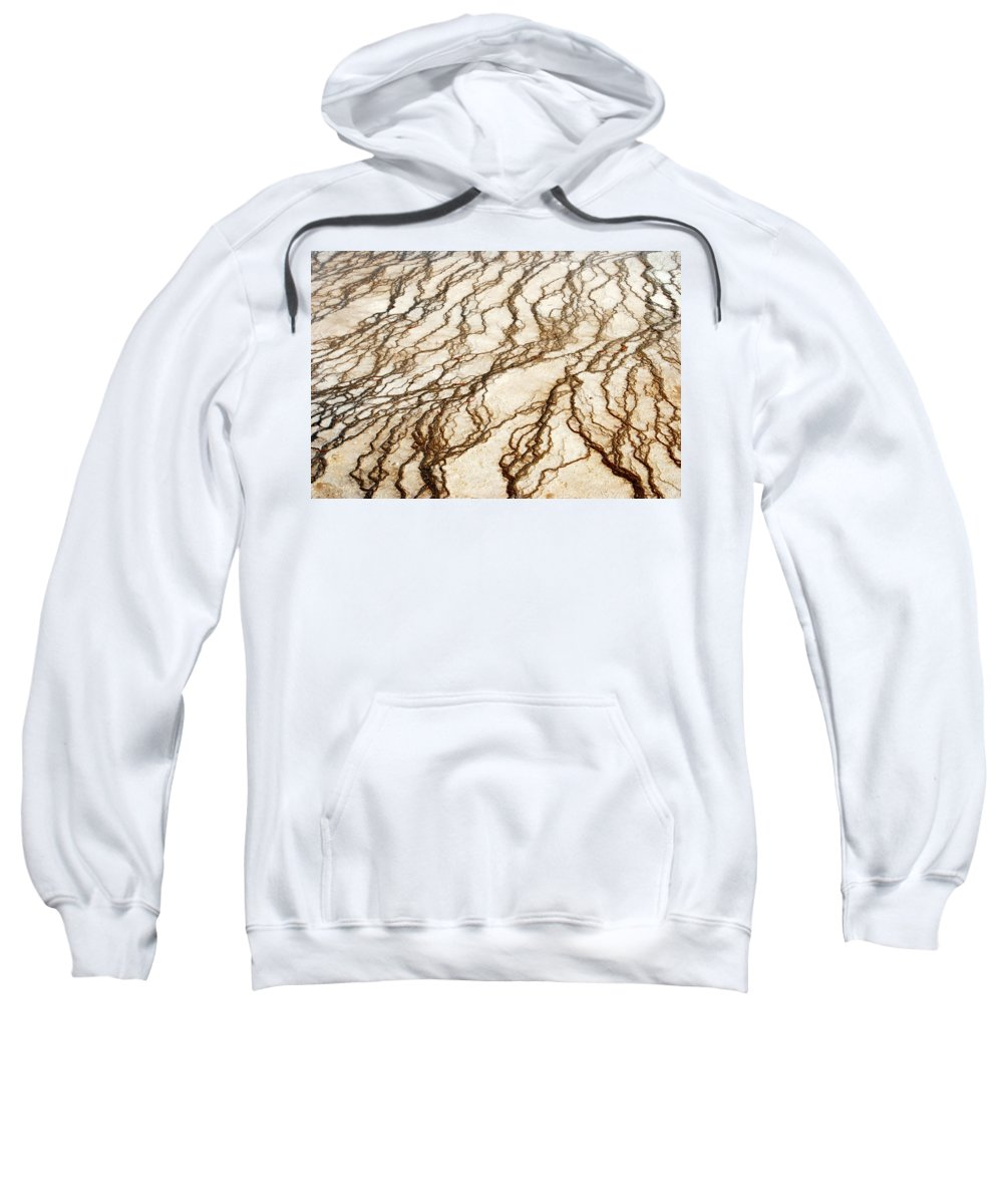 Yellowstone Sweatshirt featuring the digital art Spring Runoff by Kathy Sampson