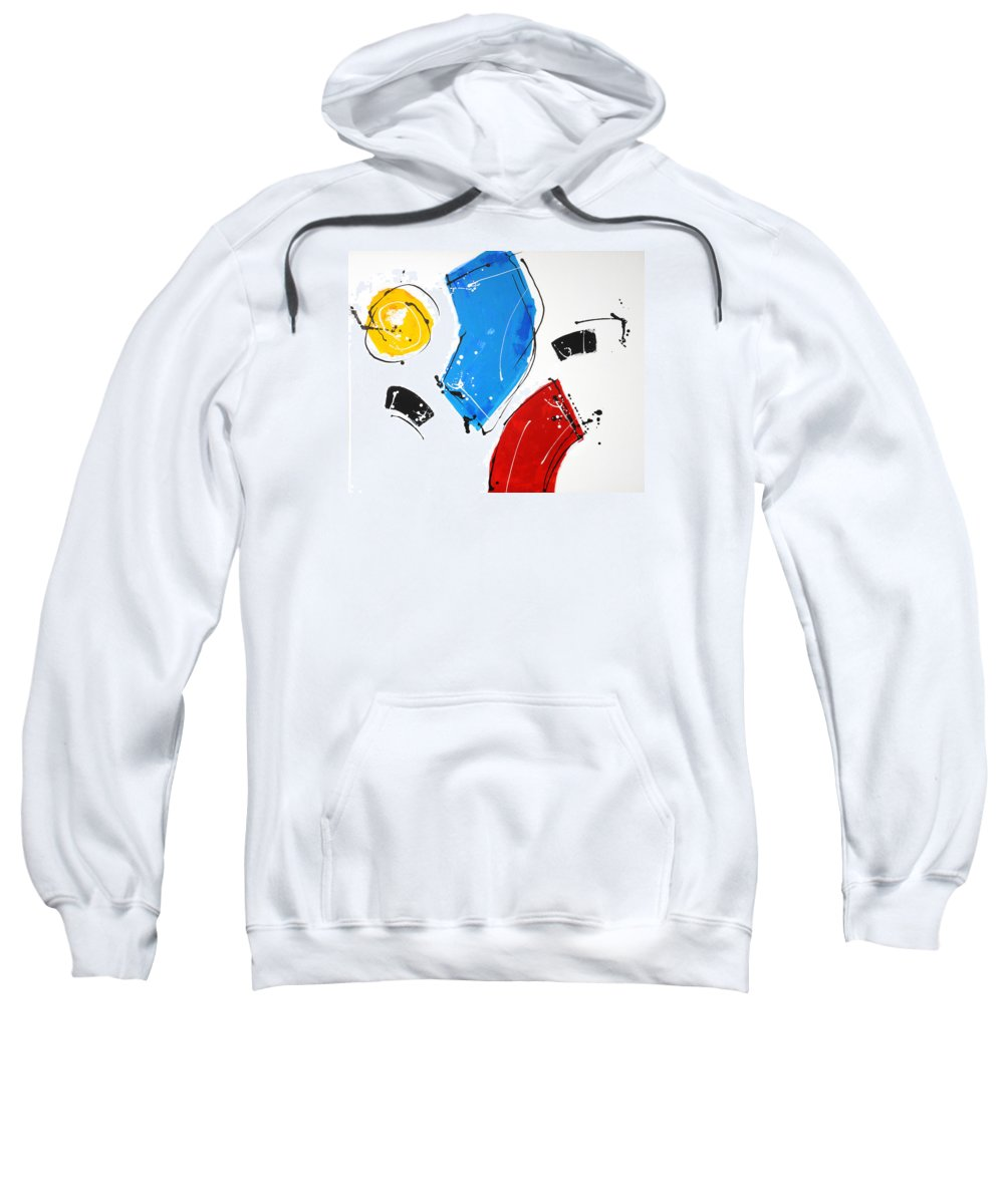 Abstract Sweatshirt featuring the painting 010222 by Toshio Sugawara
