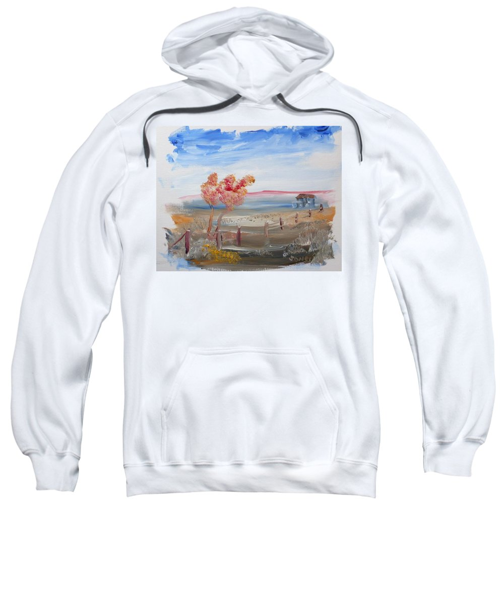 Country Sweatshirt featuring the painting A Country Scene by Bob Jones