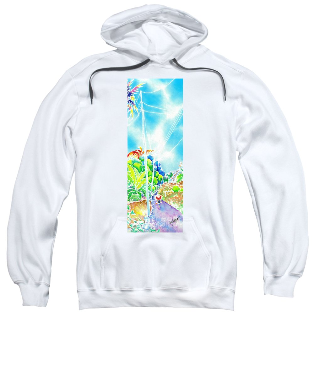 Japan Sweatshirt featuring the painting After The Squall by Hisayo Ohta