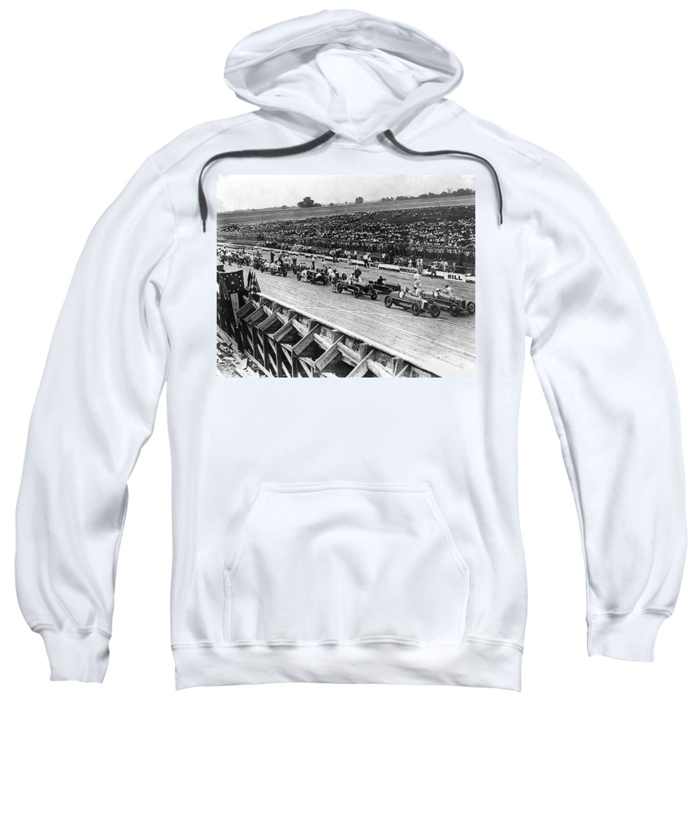 1922 Sweatshirt featuring the photograph Auto Race, C1922 by Granger