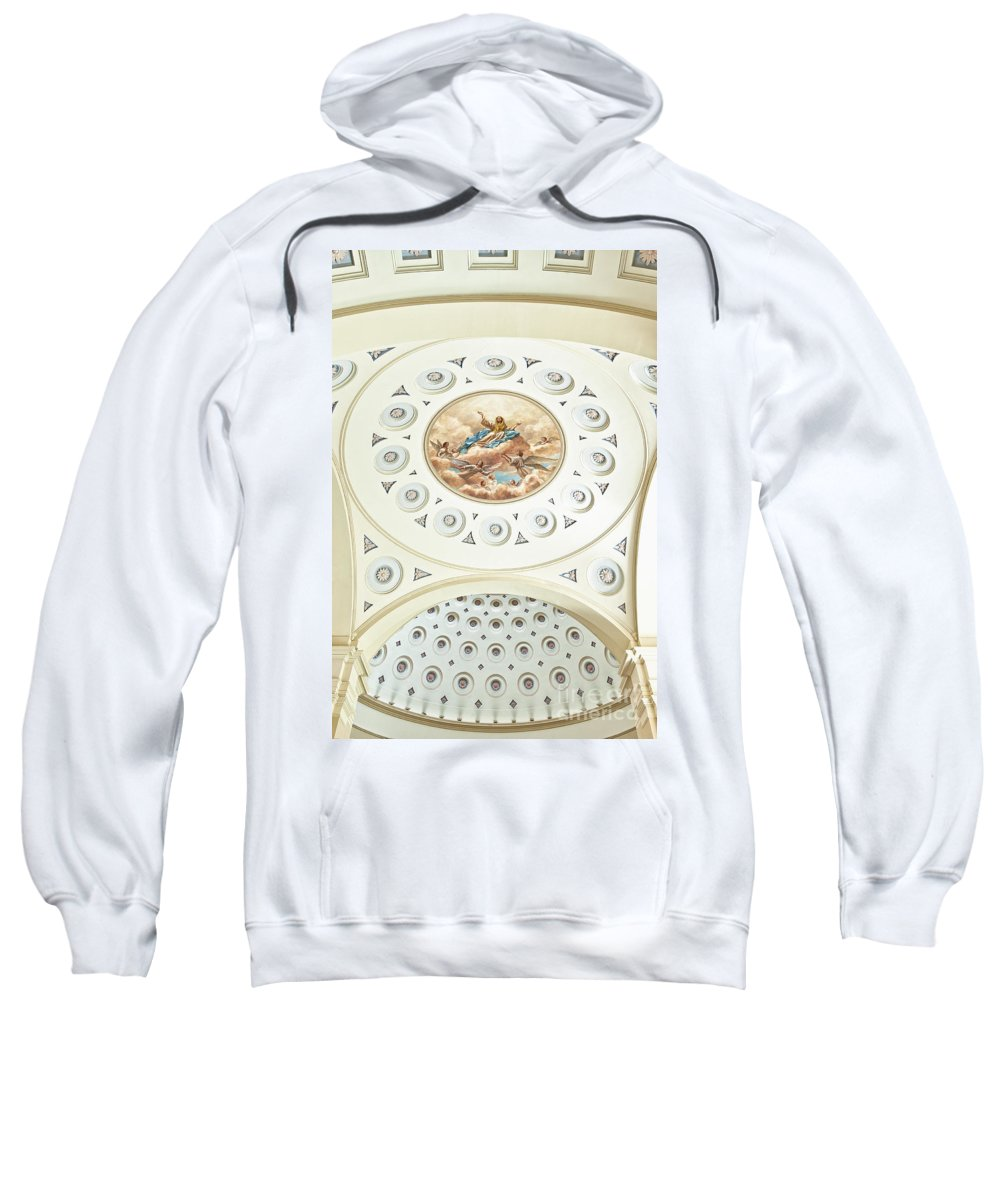 Assumption Of The Blessed Virgin Mary Sweatshirt featuring the photograph Baltimore Basilica by John Greim