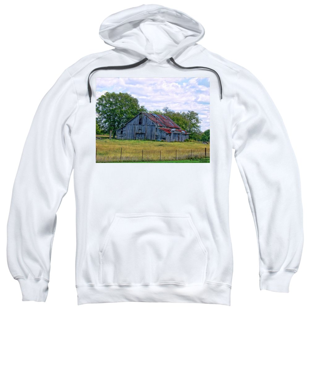 Clouds Sweatshirt featuring the photograph Barn 32 by Ericamaxine Price