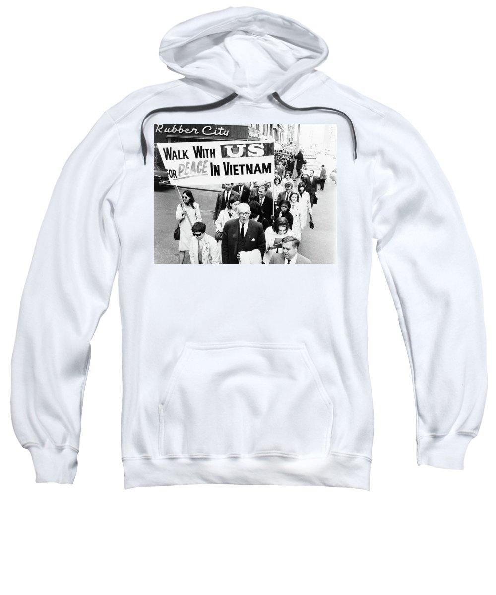 1965 Sweatshirt featuring the photograph Benjamin Spock (1903-1998) by Granger