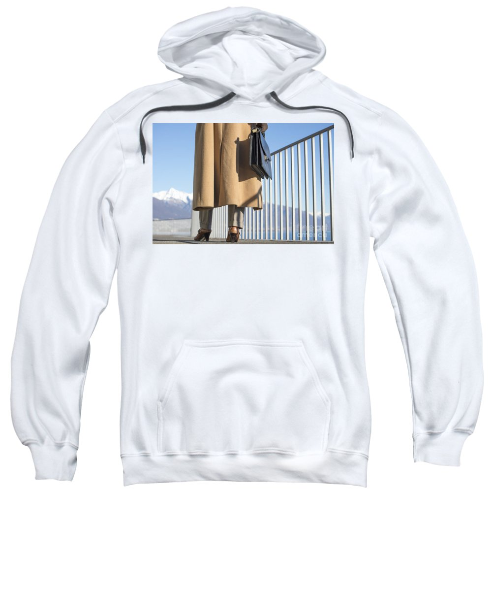 Woman Sweatshirt featuring the photograph Business Woman by Mats Silvan