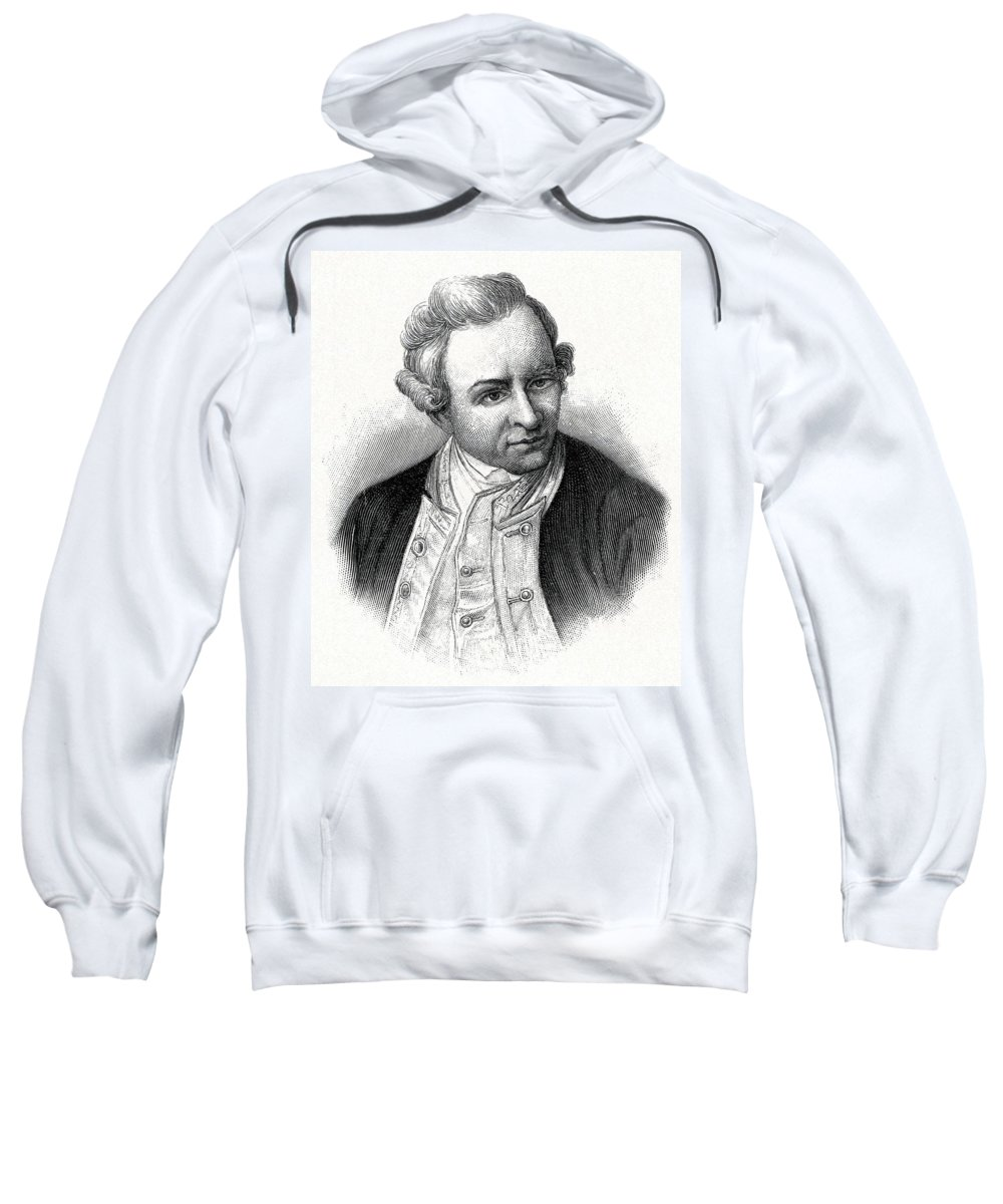 James Cook Sweatshirt featuring the photograph Captain James Cook, British Explorer by CCI Archives