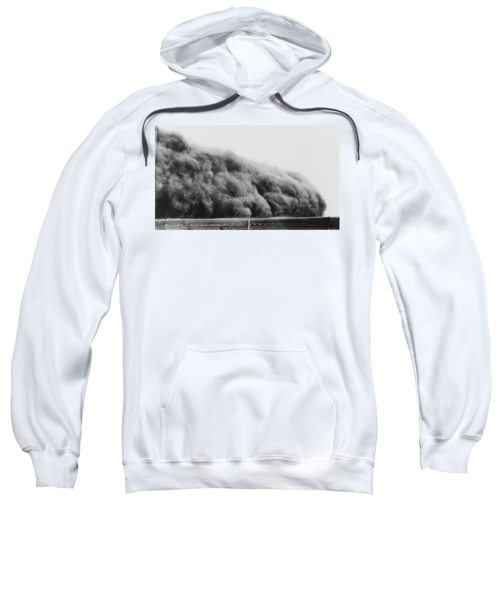 1935 Sweatshirt featuring the photograph Colorado Dust Storm, 1935 by Granger