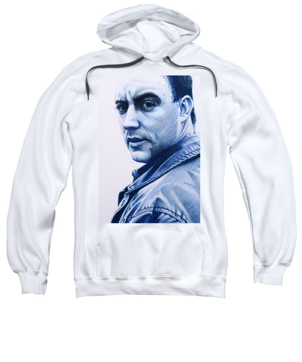 Dave Matthews Sweatshirt featuring the drawing Dave Matthews by Joshua Morton