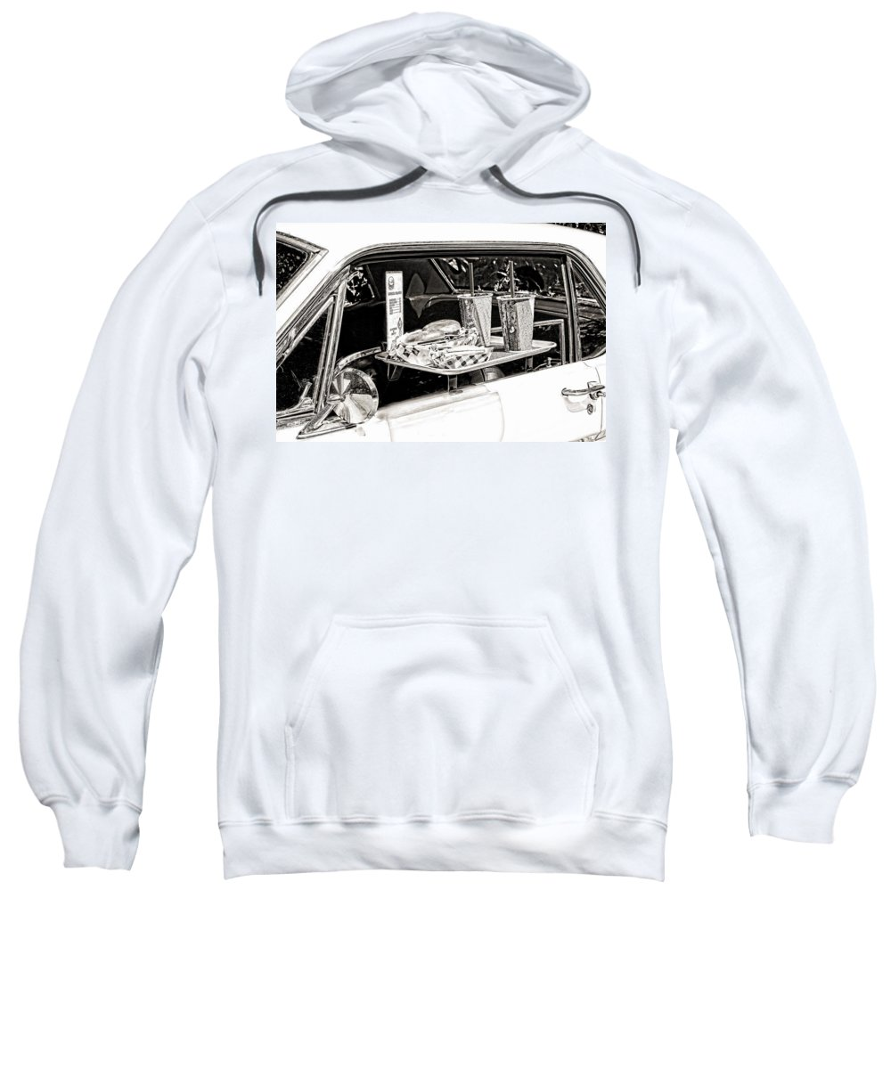 Food Sweatshirt featuring the photograph Drive-in by Rudy Umans