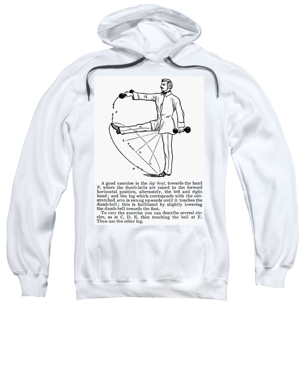 19th Century Sweatshirt featuring the photograph Exercise, 19th Century by Granger
