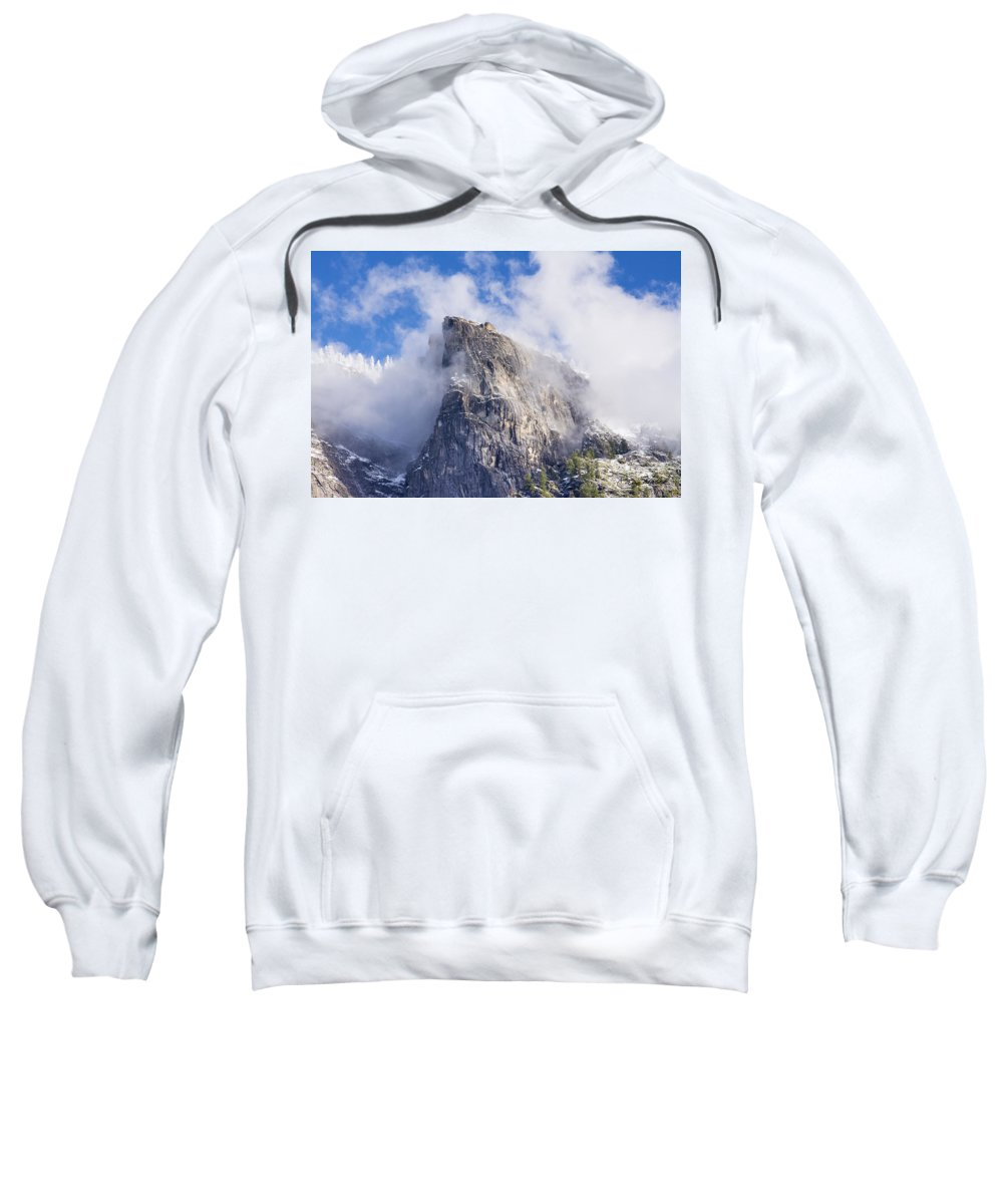 Yosemite Sweatshirt featuring the photograph First Snow Of The Season In Yosemite by Doug Holck