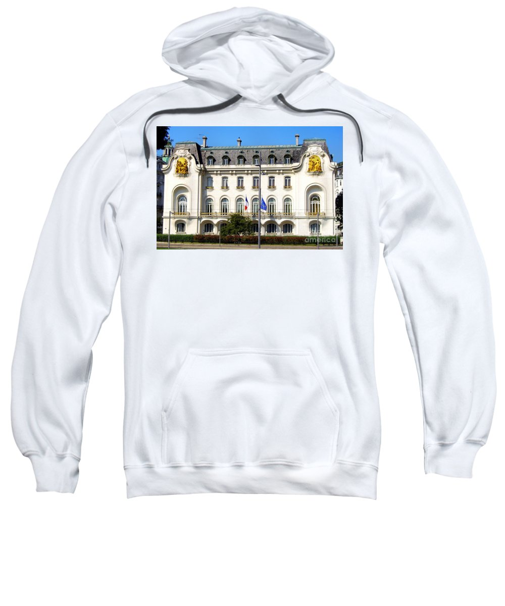 French Embassy Sweatshirt featuring the photograph French Embassy In Vienna by Mariola Bitner