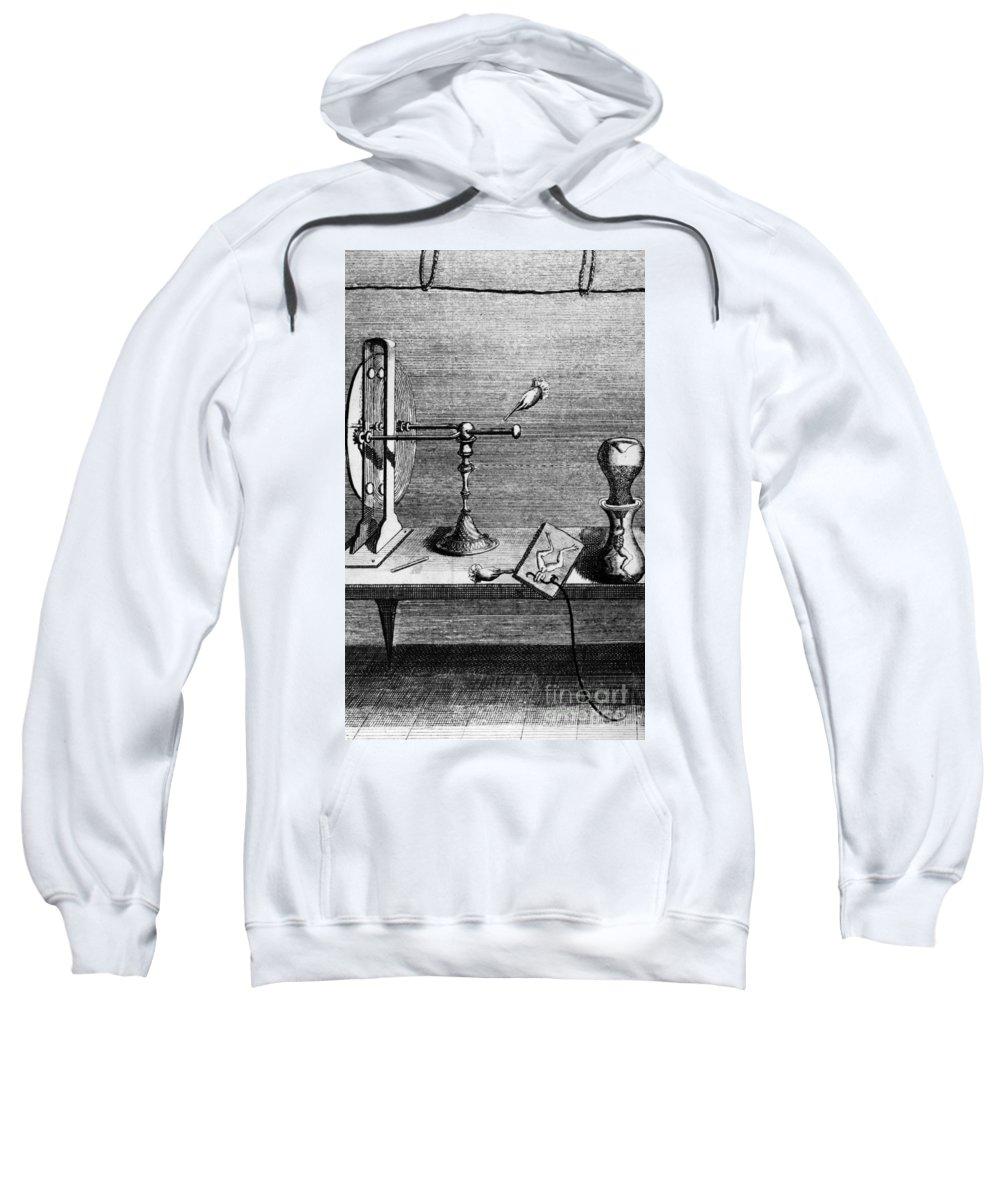 18th Century Sweatshirt featuring the photograph Galvani: Galvanism by Granger
