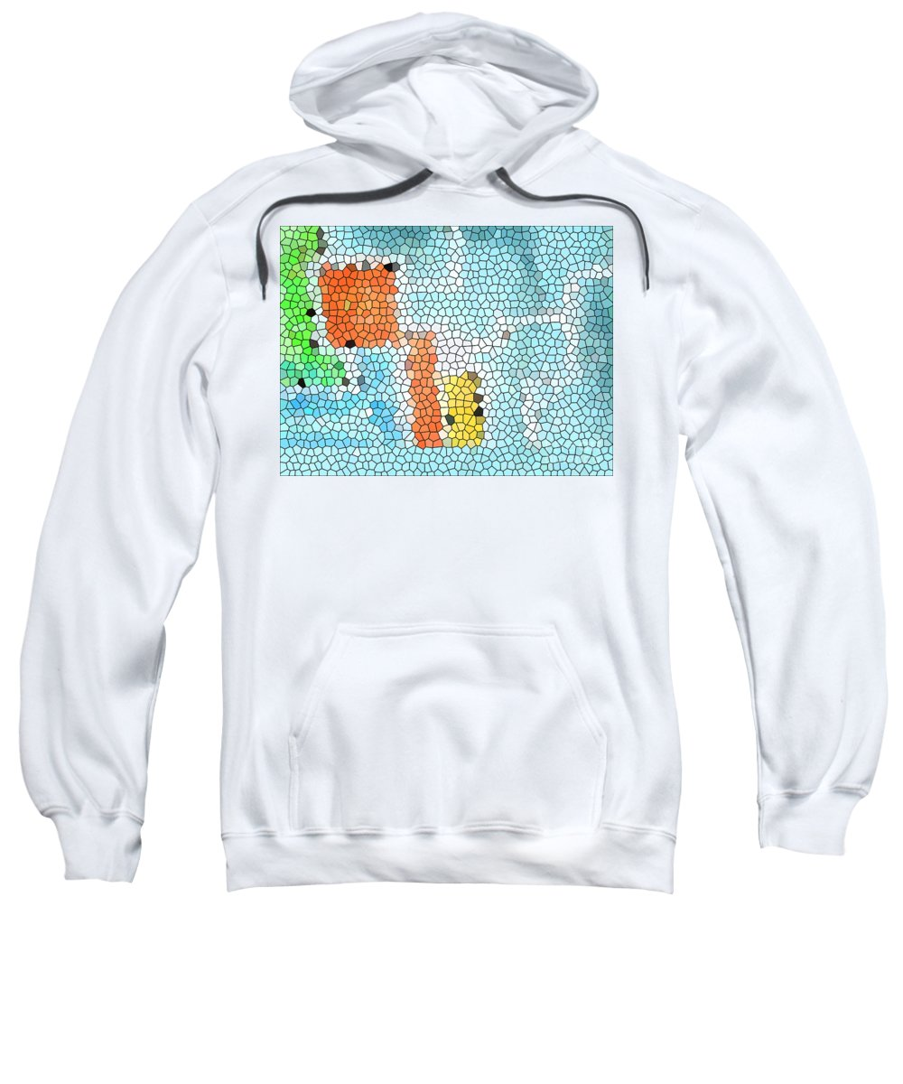 Abstract Sweatshirt featuring the painting Geometric Abstract by Pixel Chimp