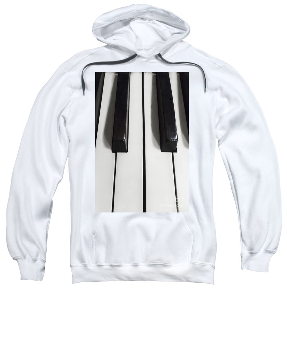 Piano Sweatshirt featuring the photograph Keys by Margie Hurwich